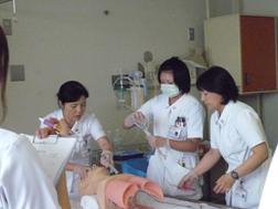 水戸赤十字病院の新人看護師研修風景