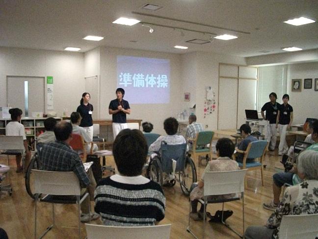 7月6日(土)患者さまを対象にリハビリ教室が開催されました。患者さま、ご家族を含め25名の方が参加されました。