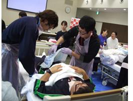 那須赤十字病院の新人看護師研修風景